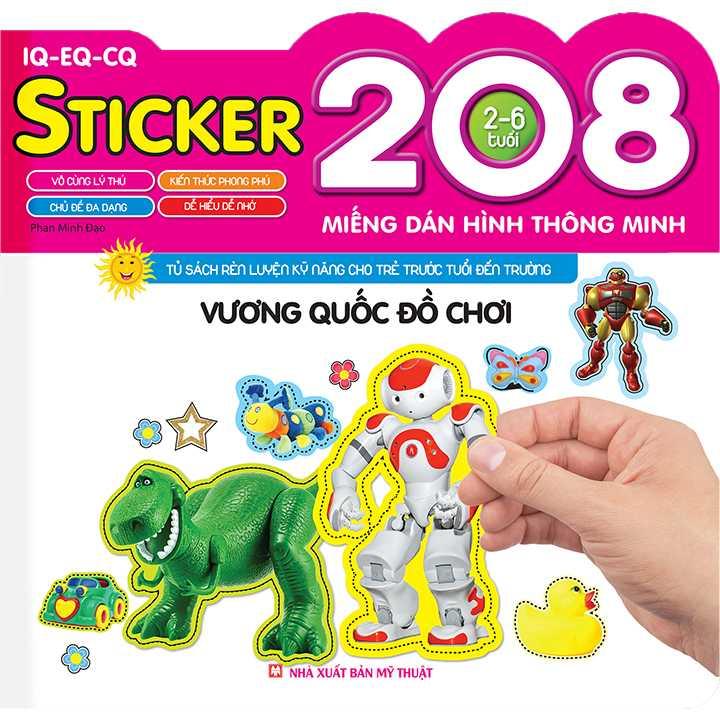 208 Miếng Dán Hình Thông Minh - IQ-EQ-CQ - Vương Quốc Đồ Chơi