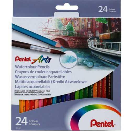Bút Chì Màu Pentel 24 Màu CB9-24
