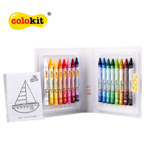 Sáp màu Colokit CR-C08 NEW - Ảnh 1