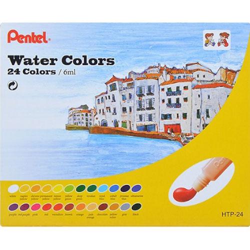 Màu Vẽ 24Màu Hộp Giấy Pentel HTP-24