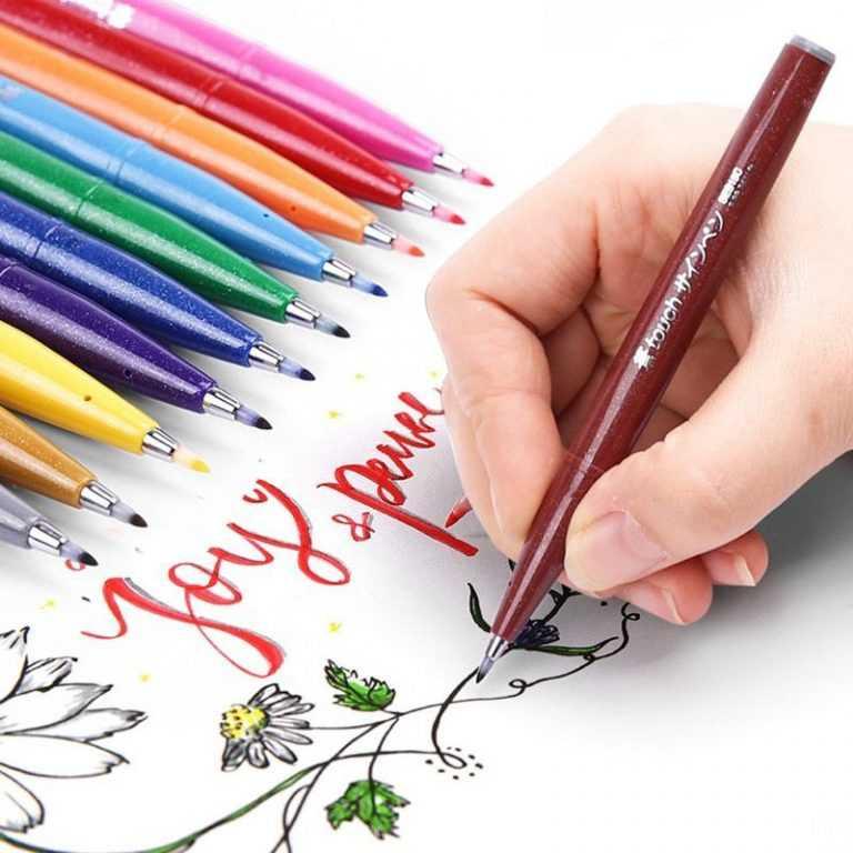 Bộ bút thư pháp 12 màu Brush Sign Pen Pentel SES15C