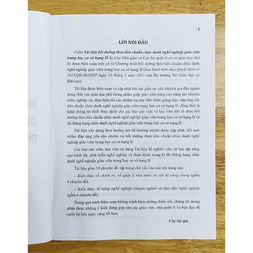 Tài Liệu - Bồi Dưỡng Theo Chuẩn Chức Danh Nghề Nghiệp Giáo Viên Trung Học Cơ Sở Hạng II - Ảnh 2