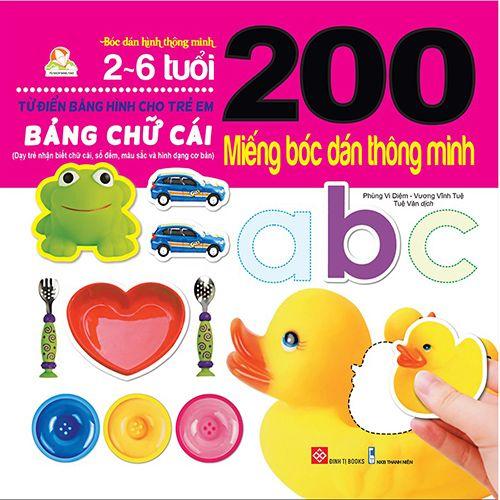 200 Miếng Bóc Dán Thông Minh - Bảng Chữ Cái (2-6 Tuổi)