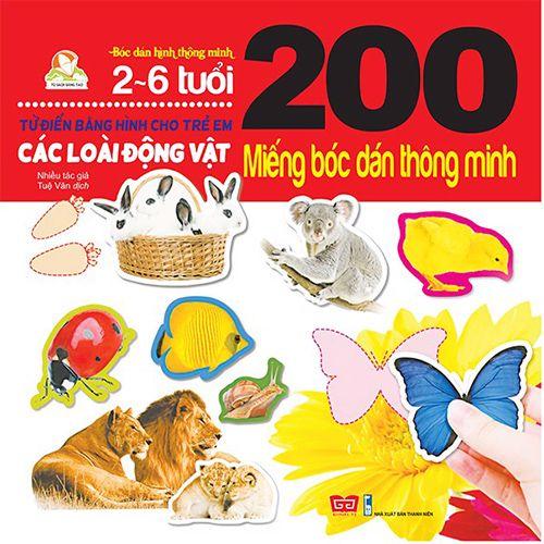 200 Miếng Bóc Dán Thông Minh - Các Loài Động Vật (2-6 Tuổi)
