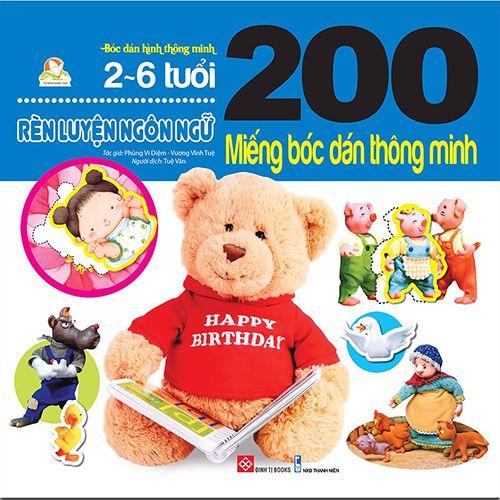 200 Miếng Bóc Dán Thông Minh - Rèn Luyện Ngôn Ngữ (2-6 Tuổi)