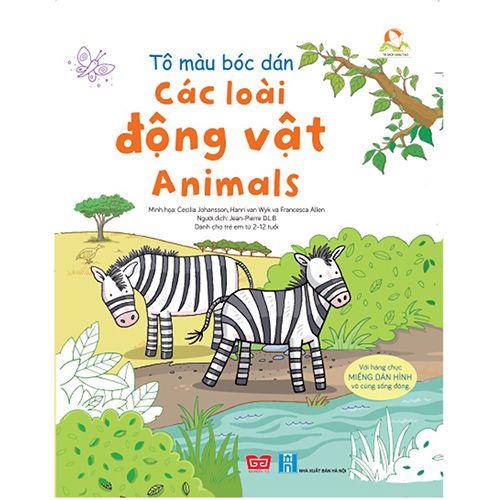 Tô Màu Bóc Dán - Các Loài Động Vật - Animals