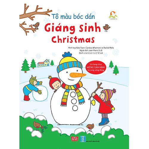 Tô Màu Bóc Dán - Giáng Sinh - Christmas