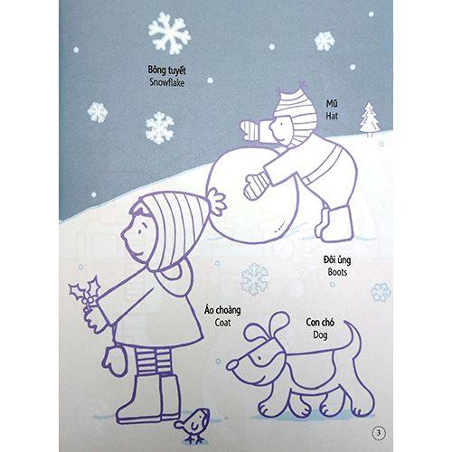 Tô Màu Bóc Dán - Giáng Sinh - Christmas - Ảnh 4
