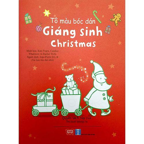 Tô Màu Bóc Dán - Giáng Sinh - Christmas - Ảnh 2