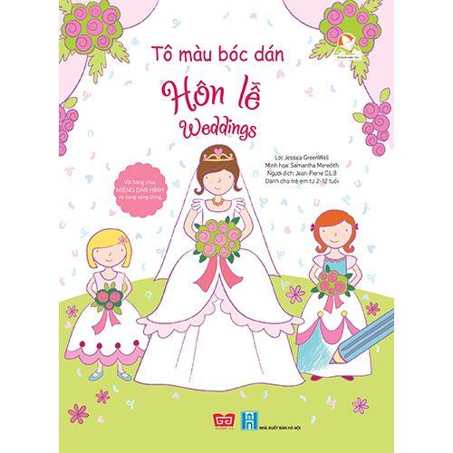 Tô Màu Bóc Dán - Hôn Lễ - Weddings