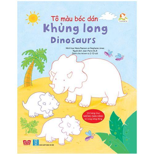 Tô Màu Bóc Dán - Khủng Long - Dinosaurs
