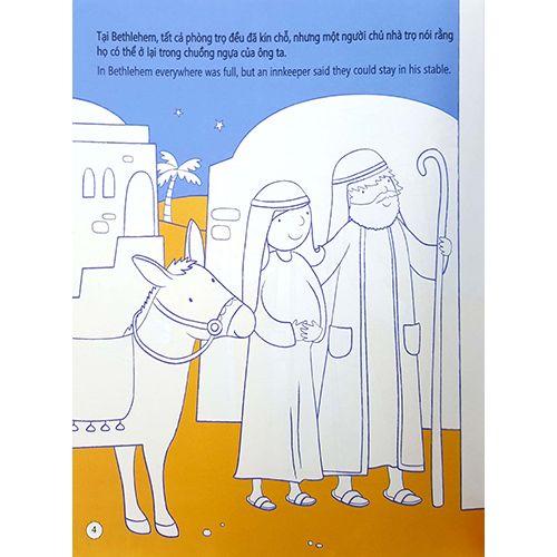 Tô Màu Bóc Dán - Ngày Chúa Chào Đời - Nativity - Ảnh 5