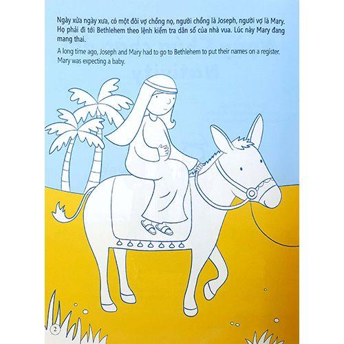 Tô Màu Bóc Dán - Ngày Chúa Chào Đời - Nativity - Ảnh 2