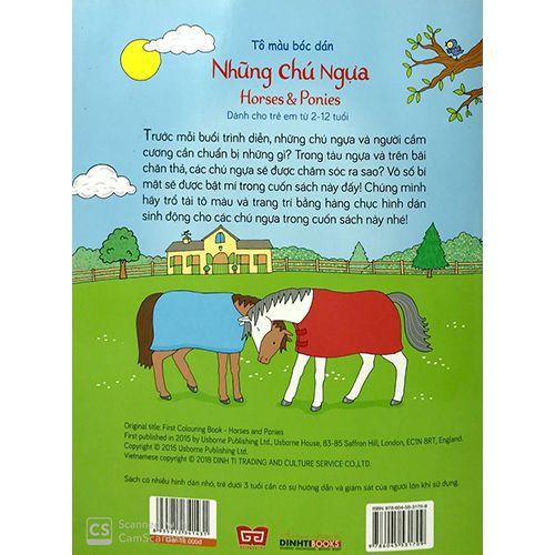 Tô Màu Bóc Dán - Những Chú Ngựa - Horses & Ponies - Ảnh 2