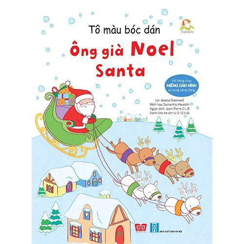Tô Màu Bóc Dán - Ông Già Noel - Santa