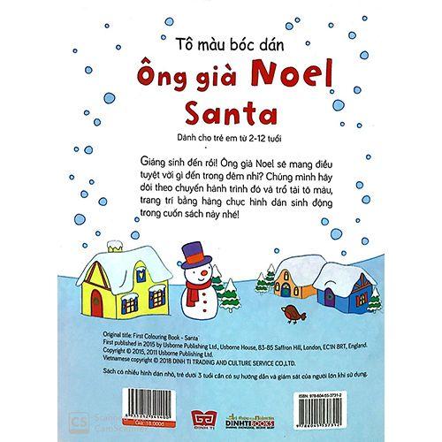 Tô Màu Bóc Dán - Ông Già Noel - Santa - Ảnh 7