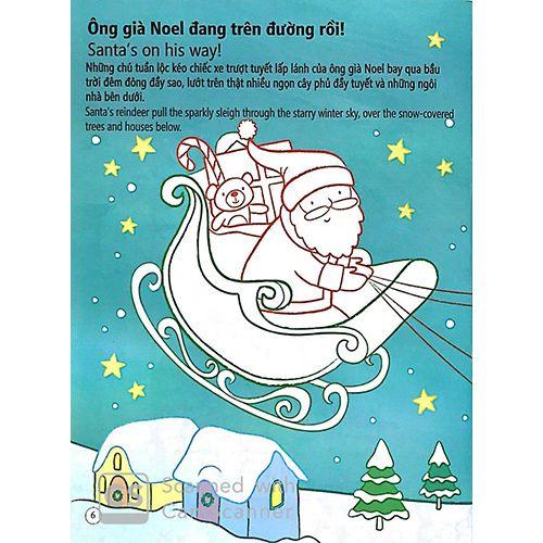Tô Màu Bóc Dán - Ông Già Noel - Santa - Ảnh 3
