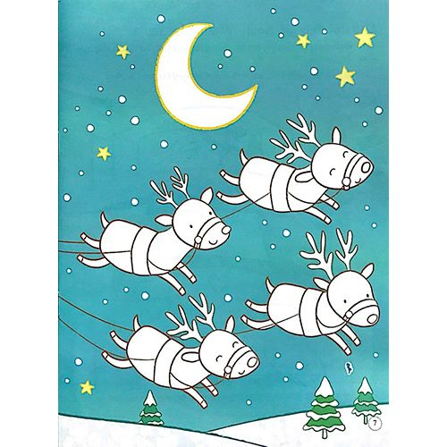 Tô Màu Bóc Dán - Ông Già Noel - Santa - Ảnh 4