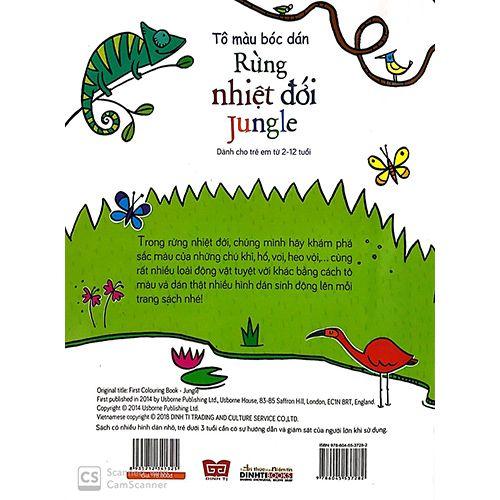 Tô Màu Bóc Dán - Rừng Nhiệt Đới - Jungle - Ảnh 7