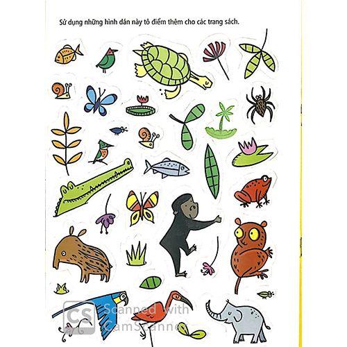 Tô Màu Bóc Dán - Rừng Nhiệt Đới - Jungle - Ảnh 5