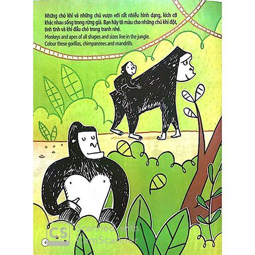 Tô Màu Bóc Dán - Rừng Nhiệt Đới - Jungle - Ảnh 2