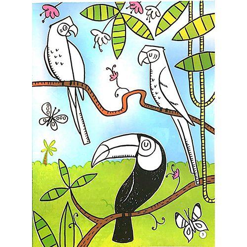 Tô Màu Bóc Dán - Rừng Nhiệt Đới - Jungle - Ảnh 3