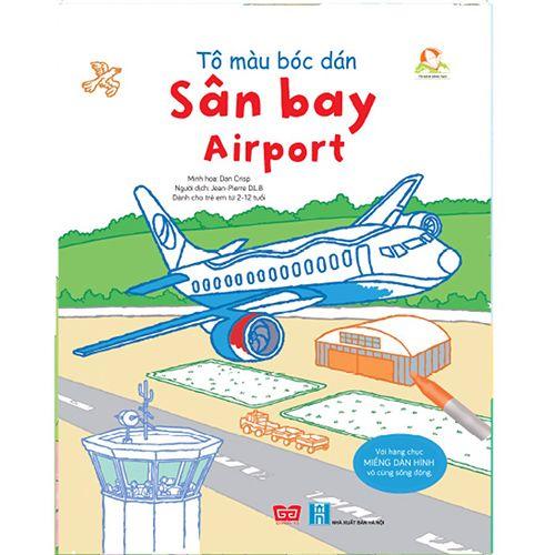 Tô Màu Bóc Dán - Sân Bay - Airport