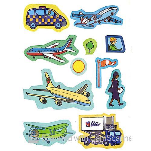 Tô Màu Bóc Dán - Sân Bay - Airport - Ảnh 5
