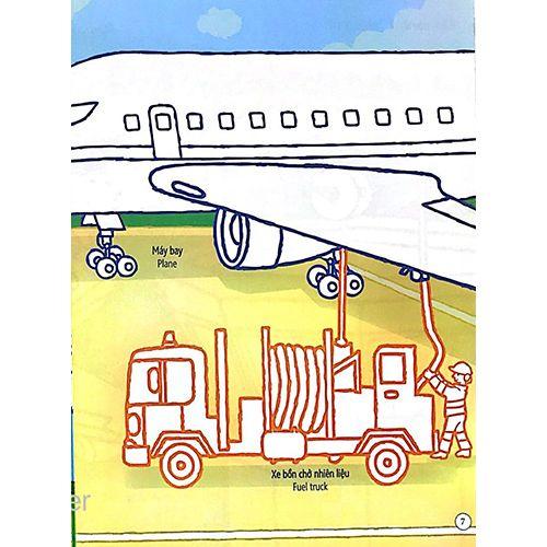 Tô Màu Bóc Dán - Sân Bay - Airport - Ảnh 4