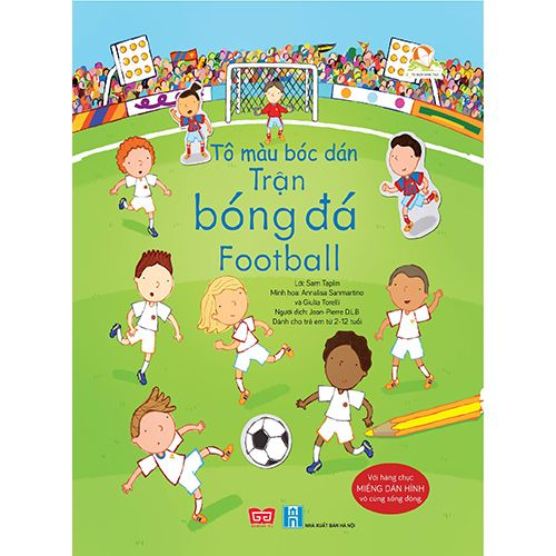 Tô Màu Bóc Dán - Trận Bóng Đá - Football