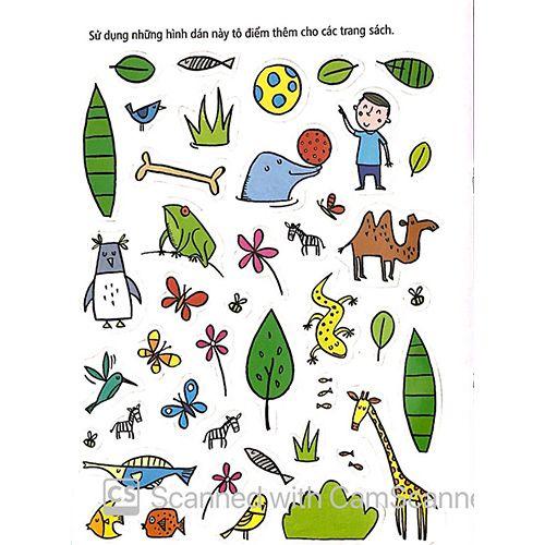 Tô Màu Bóc Dán - Vườn Bách Thú - Zoo - Ảnh 6