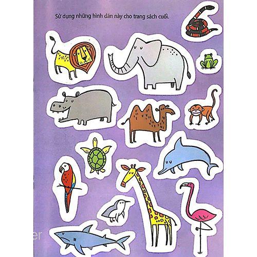 Tô Màu Bóc Dán - Vườn Bách Thú - Zoo - Ảnh 5