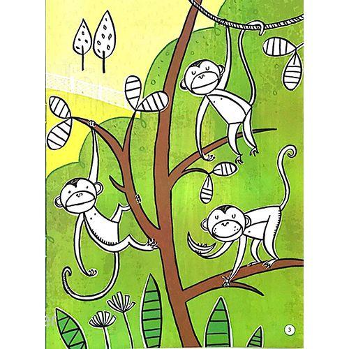 Tô Màu Bóc Dán - Vườn Bách Thú - Zoo - Ảnh 2
