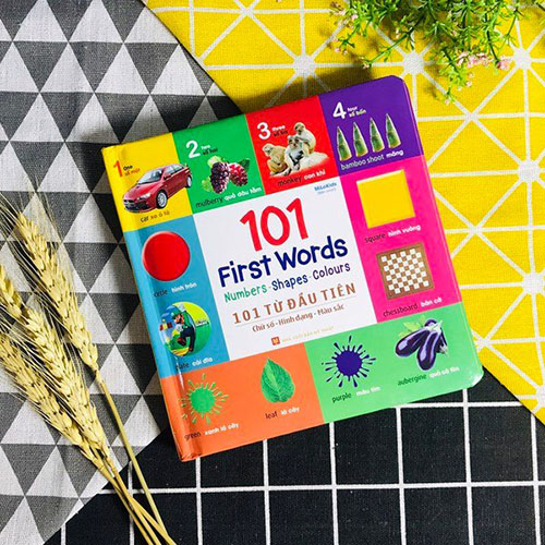 101 First Words: Numbers - Shapes - Colours / 101 Từ Đầu Tiên: Chữ Số - Hình Dạng - Màu Sắc - Ảnh 3