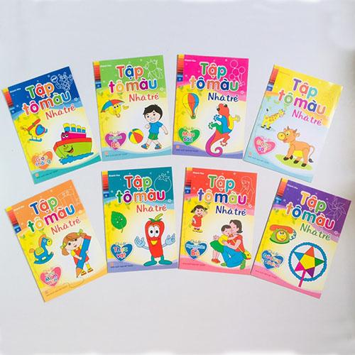 Tập Tô Màu Nhà Trẻ ( Bộ 8 Cuốn) - Ảnh 3