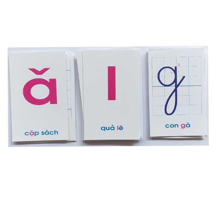Thẻ học chữ cái và số đếm (Khổ nhỏ) - Ảnh 1