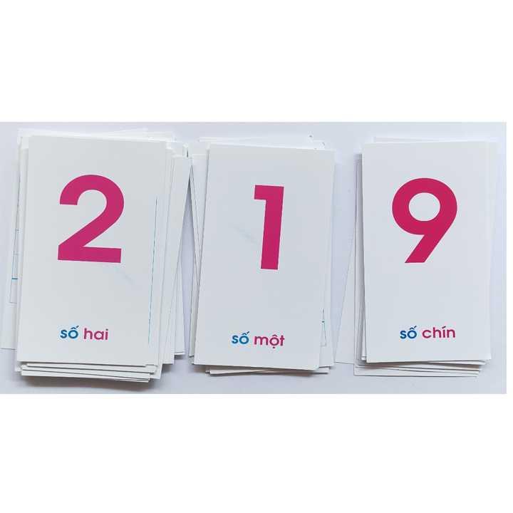 Thẻ học chữ cái và số đếm (Khổ nhỏ) - Ảnh 3