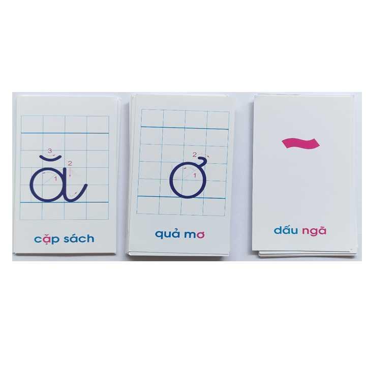 Thẻ học chữ cái và số đếm (Khổ nhỏ) - Ảnh 2