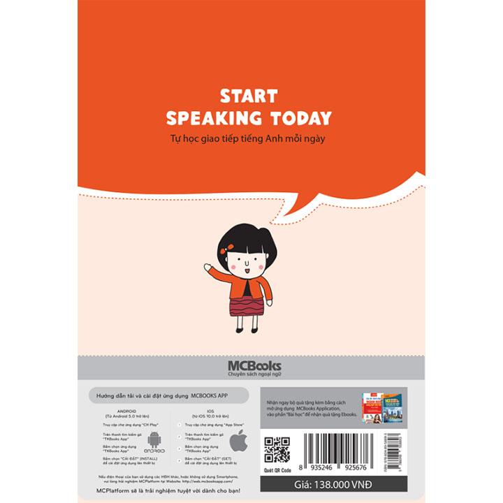 Start speaking today – Tự học tiếng giao tiếp Anh mỗi ngày - Ảnh 2
