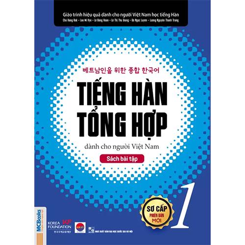 Tiếng Hàn tổng hợp dành cho người Việt Nam – Sách bài tập sơ cấp 1