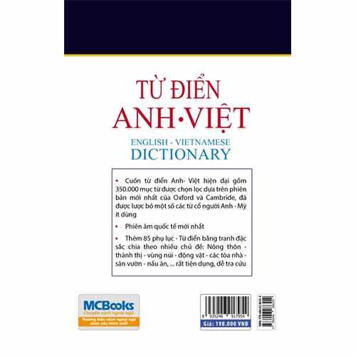 Từ điển Anh – Anh- Việt (bìa mềm trắng) - Ảnh 3