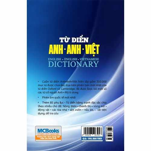 Từ điển Anh – Anh- Việt (bìa mềm) - Ảnh 2
