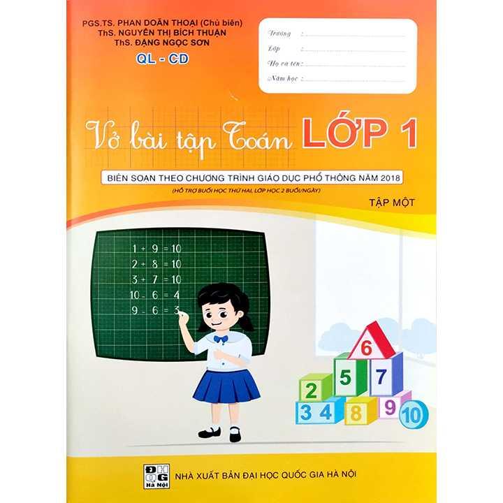 Vở Bài Tập Toán Lớp 1 - Tập 1 - QL-CD - Hỗ Trợ Buổi Học Thứ Hai, Lớp Học 2 Buổi/Ngày