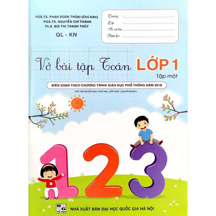 Vở Bài Tập Toán Lớp 1 - Tập 1 - QL-KN - Hỗ Trợ Buổi Học Thứ Hai, Lớp Học 2 Buổi/Ngày