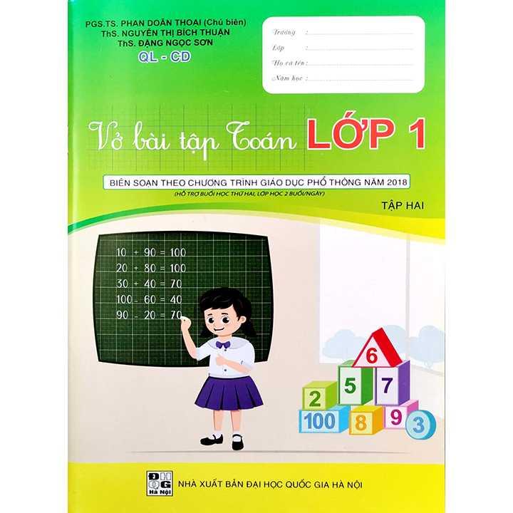 Vở Bài Tập Toán Lớp 1 - Tập 2 - QL-CD - Hỗ Trợ Buổi Học Thứ Hai, Lớp Học 2 Buổi/Ngày