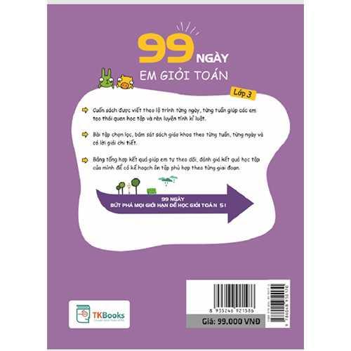 99 Ngày Em Giỏi Toán Lớp 3 - Ảnh 3