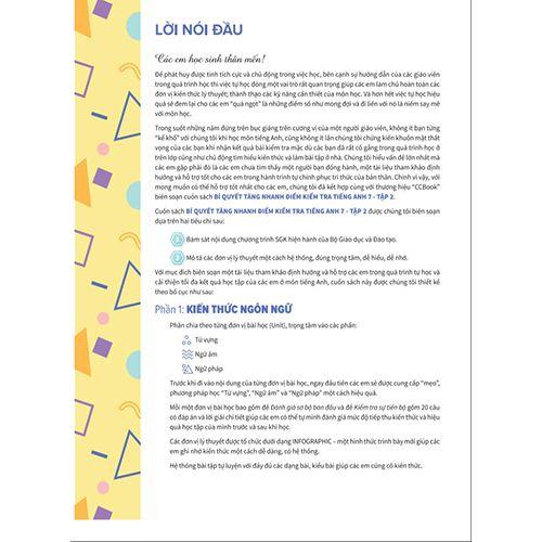 Bí Quyết Tăng Nhanh Điểm Kiểm Tra - Tiếng Anh 7 - Tập 2 - Ảnh 2