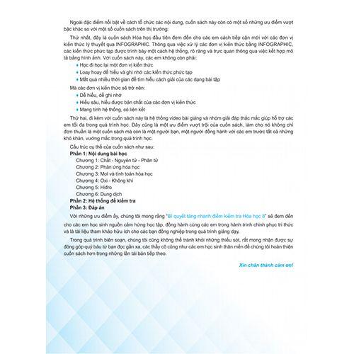 Bí Quyết Tăng Nhanh Điểm Kiểm Tra - Hóa Học 8 - Ảnh 3