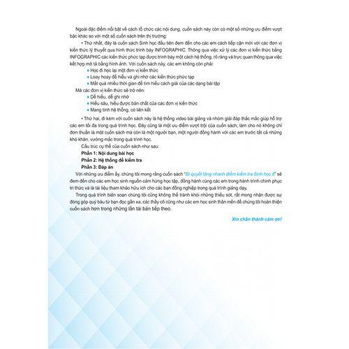 Bí Quyết Tăng Nhanh Điểm Kiểm Tra - Sinh Học 8 - Ảnh 3