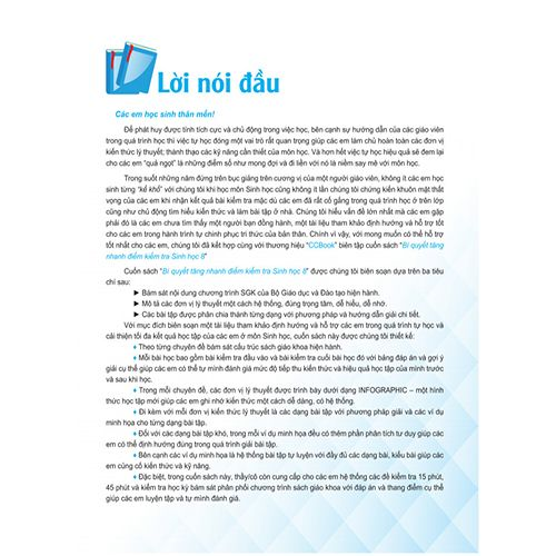 Bí Quyết Tăng Nhanh Điểm Kiểm Tra - Sinh Học 8 - Ảnh 2